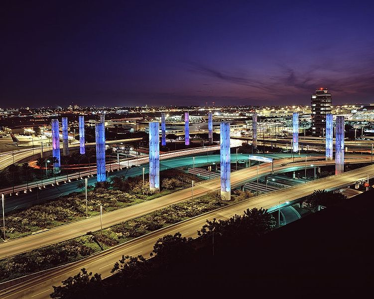 columns at Los Angeles International Airport