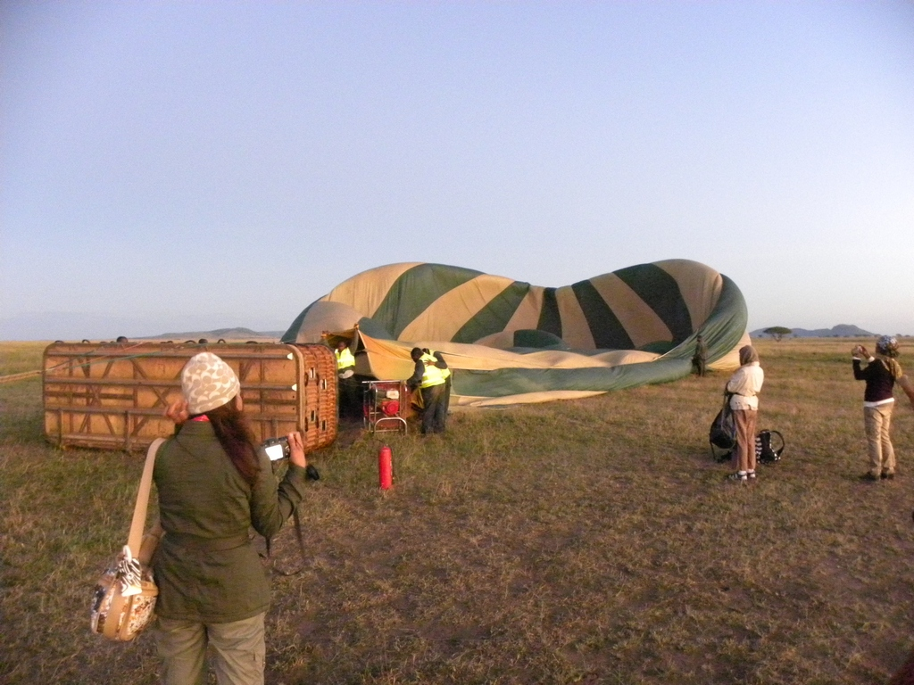 Balloon being inflated